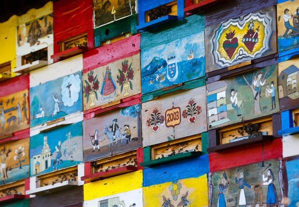 Beehive panels in Slovenia